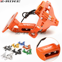 FOR DUKE LOGO Motorcycle License Plate Bracket Holder For KTM 390 690  125 200 85 80 160 250 450 500 EXC EXCF