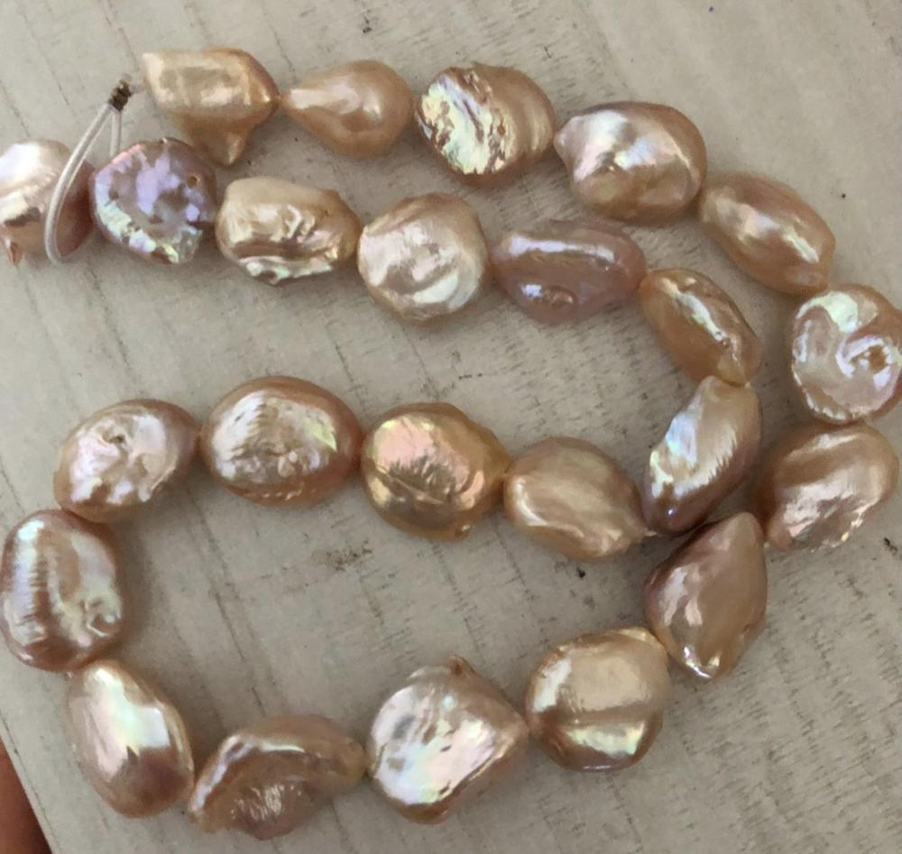 gorgeous south sea round 14-17mm lavender pearl necklace 18inch 925s цена