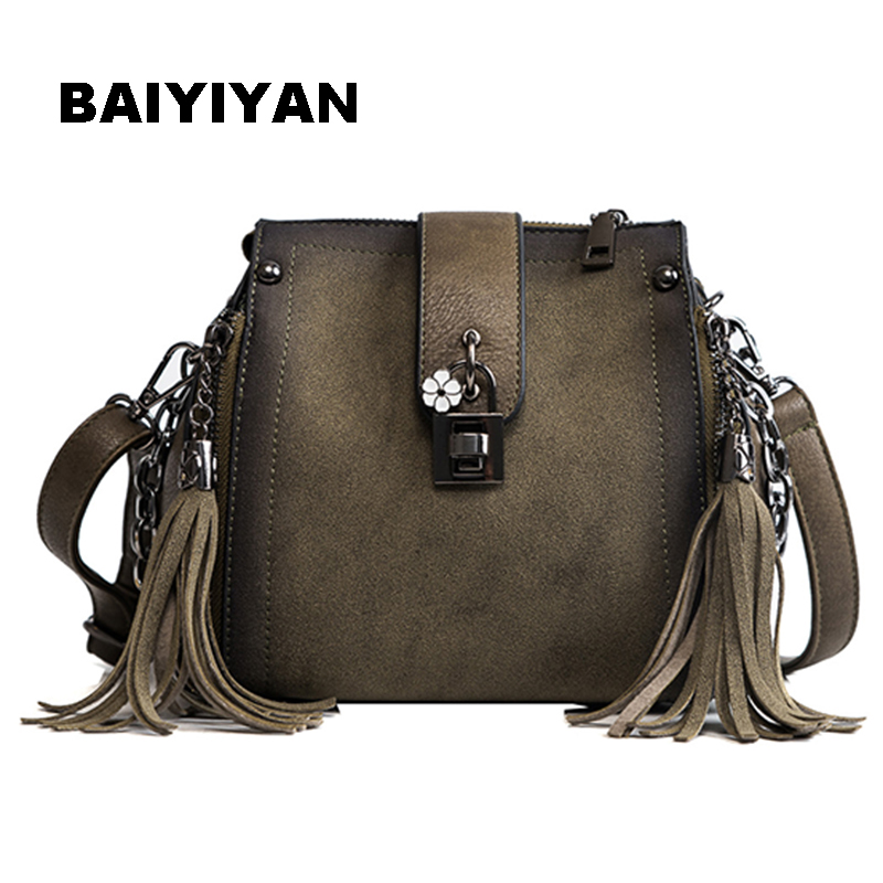 New casual Messenger Bags High Quality Bucket Bag Women Brand Lock Handbag Ladies Small Crossbody Bags For female