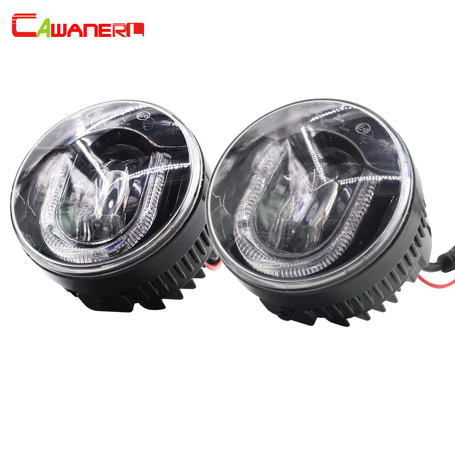 Cawanerl 2 X Car LED Light Source Fog Bulb DRL Daytime Running Lamp Styling For Nissan Note NV200 new arrival a pair 10w pure white 5630 3 smd led eagle eye lamp car back up daytime running fog light bulb 120lumen 18mm dc12v