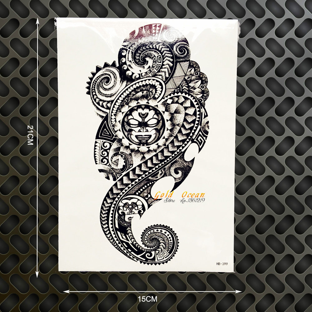 Hot indian totem flash temporary tattoo men snake design fake tattoo stickers ghb399 shoulder armband tatoo selfie car styling