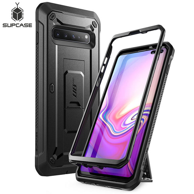 For Samsung Galaxy S10 5G Case (2019) SUPCASE UB Pro Full Body Rugged Holster Kickstand Cover WITHOUT Built in Screen Protector