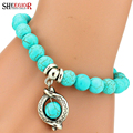Love Turquoise Charm Bracelet Femme Bohemian Vintage Bracelets & Bangles For Women Pulseras Mujer Pendants Bracelets Men Jewelry