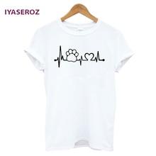 Cat Paw Heartbeat Lifeline girlie / women shirt