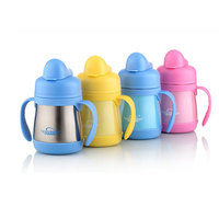 2019 Cute 200ML Baby Birthday Stainless Steel Bottle Newborn Security Health Solid High Temperature Resistant Cup Standard Metal