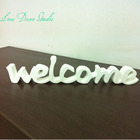 home decor welcome sign - front door sign - welcome sign - welcome beach decor