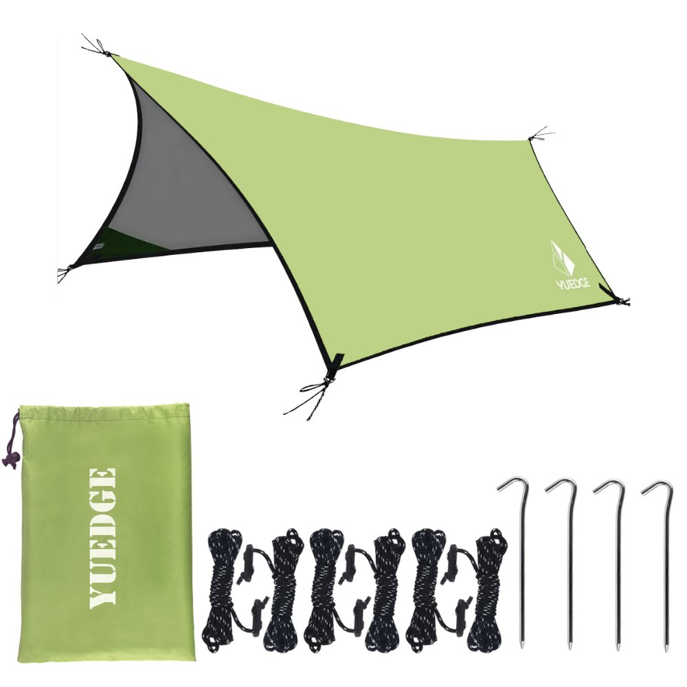 YUEDGE Brand 10x13 Ft Portable Tent Tarp Hammock Rain Fly Instant Shelter Sunshade For Camping Backpacking tents outdoor camping(China)