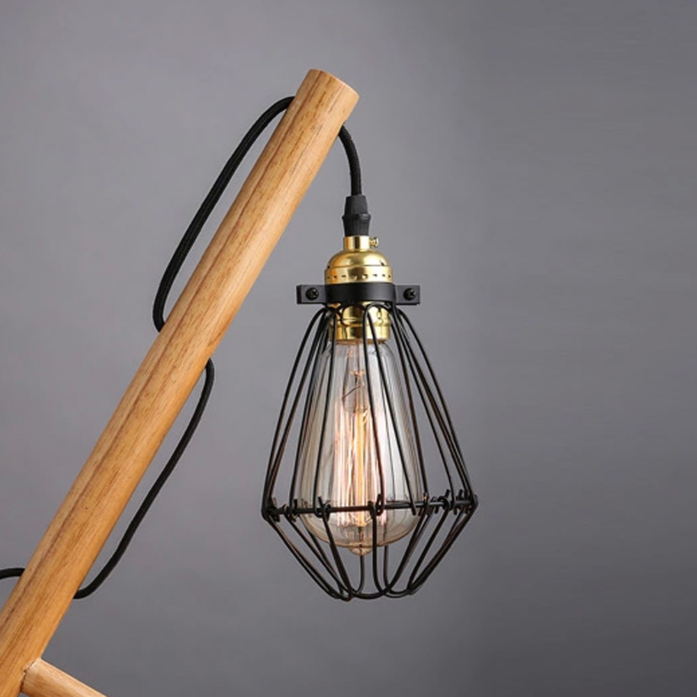 Newest wood art craft table lamp desk light handmade eco friendly newest wood art craft table lamp desk light handmade eco friendly industrial edison bulbs cage shade book lights home decoration in desk lamps from lights arubaitofo Images