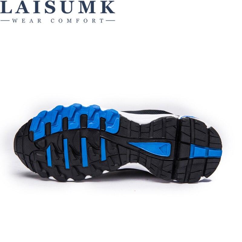 47 2019 Azul Laisumk Sintética Hombres Moda Casual Estudiantes Malla Hombre rojo Suave Otoño 48 Suavidad Ocio Zapatos Zapatillas HXpHBw