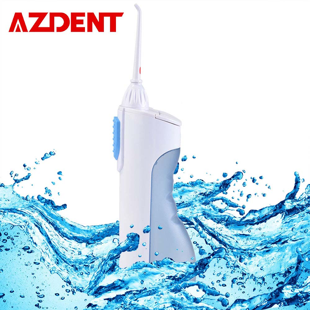 AZDENT Oral Irrigator Portable Water Dental Flosser Water Jet Cleaning Tooth Mouthpiece Mouth Denture Cleaner Teeth Brush Tools