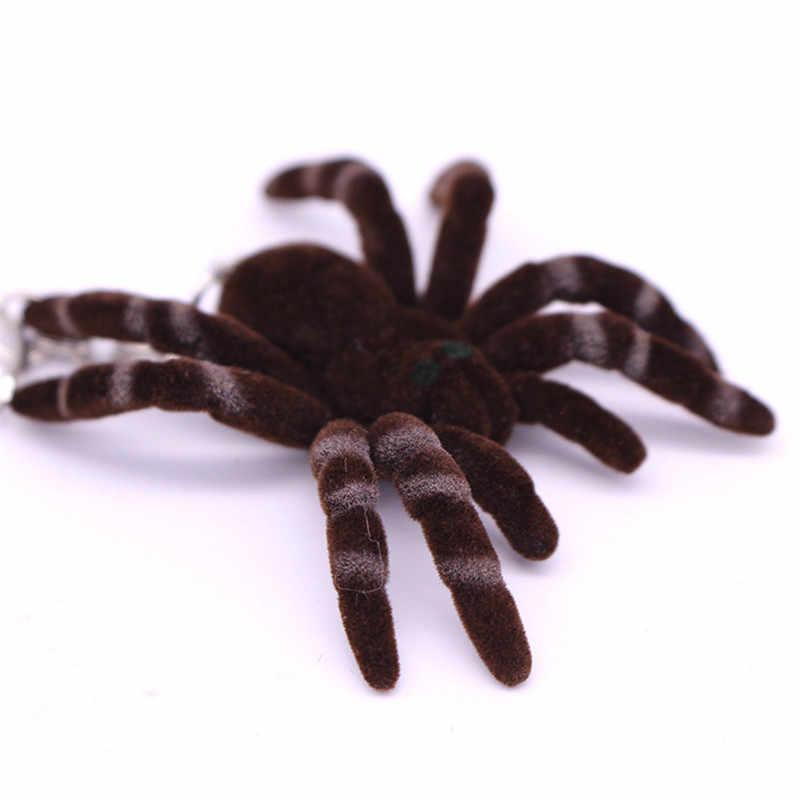 Bonito Mini aranha Chaveiros Para Mulheres Meninas Sapatos de Tecido Feito À Mão Falso Coelho Pompom Pele De aranha Chaveiros Fofo da Chave Do Carro anéis