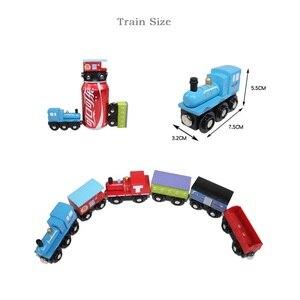 Image 3 - Kids Trein Speelgoed Houten Magnetische Trein James Anime Locomotief Auto Speelgoed Houten Trein Railway Voertuigen Kinderen Verjaardagscadeautjes