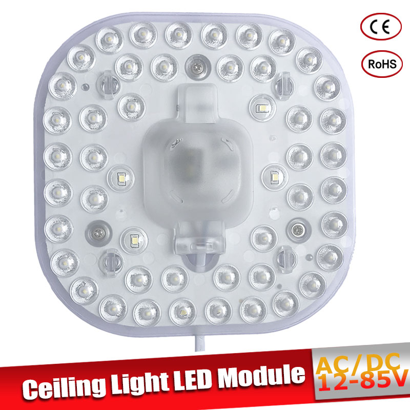LED Ceiling Lamps Module AC/DC 12V 24V 36V 50V 24W LED Light Replace Ceiling Lamp Lighting Source For Living Room Bedroom