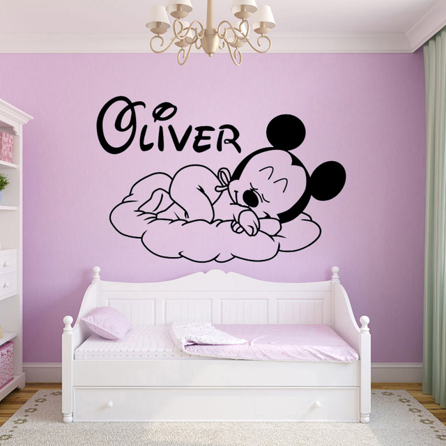 Custom Personalise Babys Name Letter Removed Vinyl Art Wall - Custom vinyl wall decals cheap how to remove