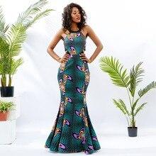 Shenbolen robes africaines pour femmes nouvelle mode robe licou cire coton  imprimé vêtements Sexy robes traditionnelles