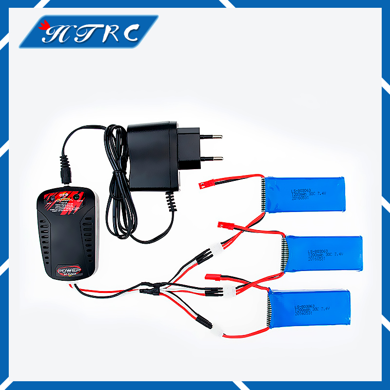 3pcs Yizhan Tarantula X6 JJRC H16 Spare Part RC Quadcopter Lipo Battery 7.4V 1200mAh 30C Charger Balance Drone Free shipping MJX h22 007 receiver board spare part for h22 rc quadcopter