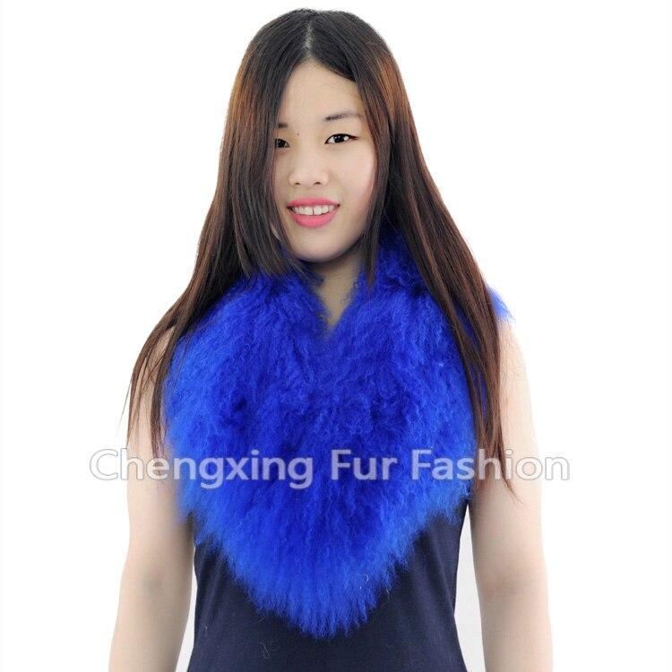 Настоящий монгольский овечий меховой воротник настоящий овечий мех шарф шарфы накидка шейный платок меховой шарф - Цвет: Темно-серый