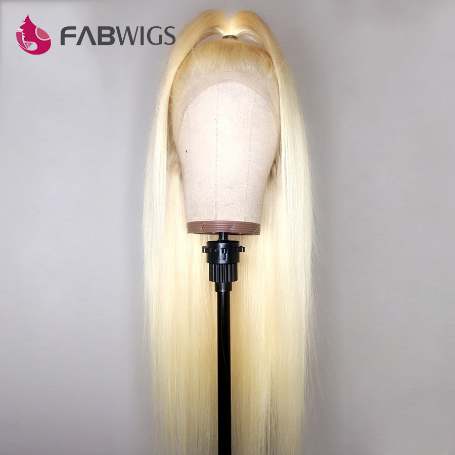 Fabwigs 150 Density 613 Full Lace Wig Pre Plucked Full Lace Human Hair Wigs with Baby