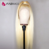 Fabwigs 150% Density 613 Full Lace Wig Pre Plucked Full Lace Human Hair Wigs with Baby Hair Remy Lace Wigs For Black Women