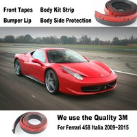 Auto Bumper Lippen Voor Ferrari 458 Italia 2009 ~ 2015/Auto Tuning/Body Kit Strip/Front Tapes/Body Chassis Kant bescherming