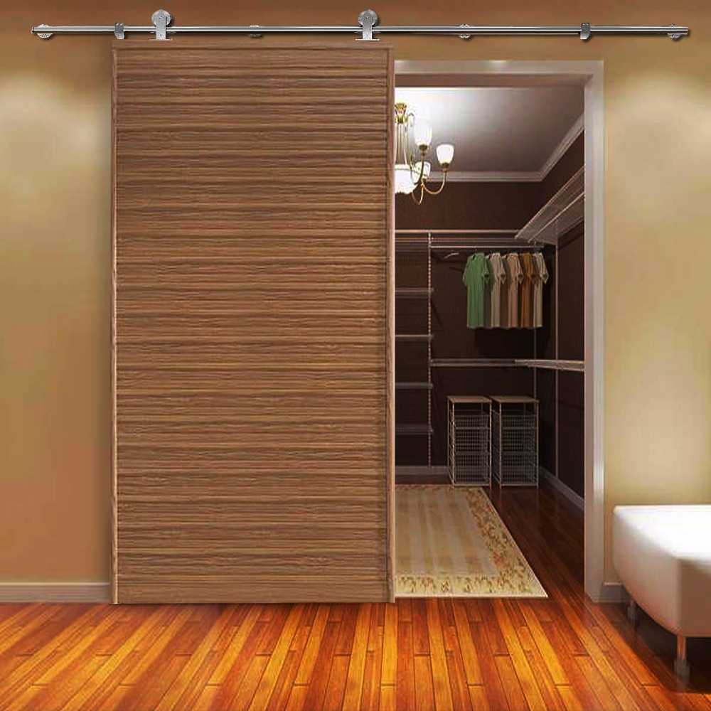 Compare prices on usa wood door online shoppingbuy low price usa usa free shipping 66ft top mounted stainless steel sliding barn wood door closet vtopaller Gallery
