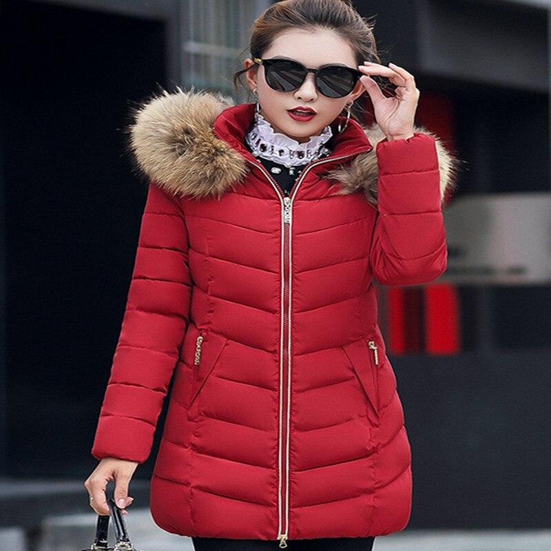 Chaud Chauds Manteau Des Femme Veste Longues Mince Coton Comme Pains Femmes D'hiver Petits doudoune Vendre Faux x80nHn