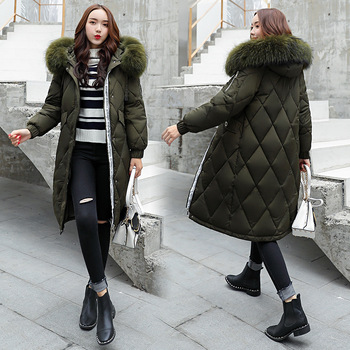 2018 winter jacket women new style Hooded cotton padded jacket thick coat women fur collar parkas Zippers  overcoat female 71801