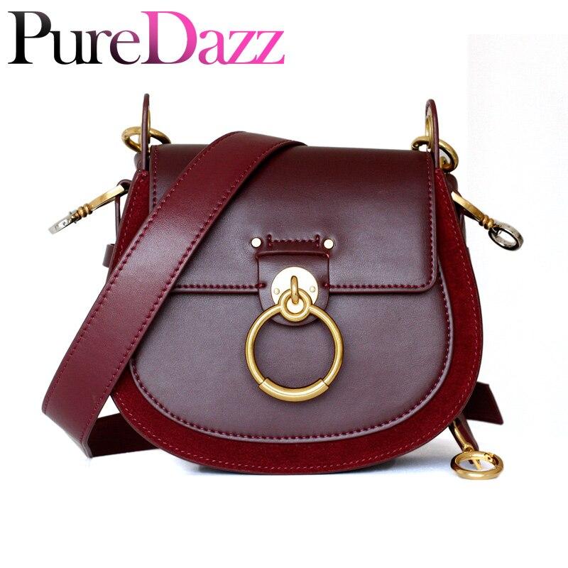 Detail Feedback Questions about Luxury Women Bag For 2018 Designer Brand Saddle  Bag Leather Ladies Crossbody Bag Fashion Ring Shoulder Bag Vintage Handbag  ... d195d72135e55