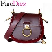 100ee7a8eeb8f Luksusowe torba kobieca dla 2018 projektant marki Saddle Bag skórzane  damskie Crossbody torba pierścień mody na ramię torba Vint.