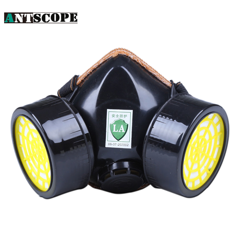 Industrial Safety Suits Respirator Gas Mask Chemical Mask Spray Chemical Dust Filter Breathe Mask Paint Dust Half Gas Mask silicone abs dust filter respirator mask dark grey