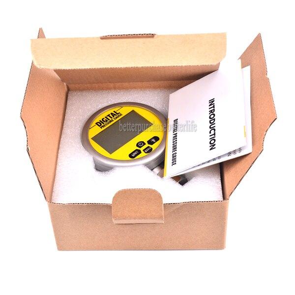 High Quality Battery Powered Metal Case Digital Pressure Gauge Manometer 0 60Mpa NPT1 4 0 25