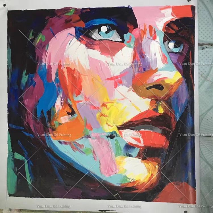 100% handmade oil painting modern Woman portrait paintings