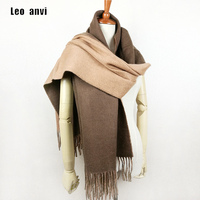 Scarf Women 100 Wool Shawl Big Size Soft Warm Thick Simple Style New High Quality Female
