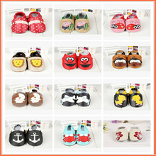 2016 Brand Animal Flower Cartoon High-quality Baby Girl Shoes Toddler Boy Dress Shoes Casual Genuine Leather Flat Toddler Shoes(China)