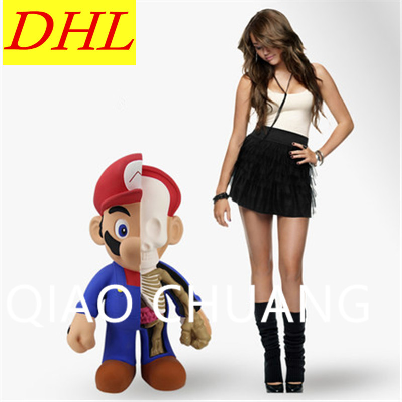 102CM Street Art Medicom Toy Dissection Super Mario Cosplay KAWS PVC Action Figure Collection Model Toy G1203 28 70cm 1000% bearbrick be rbrick attack on titans action toy figure medicom toy art work great gift for friends