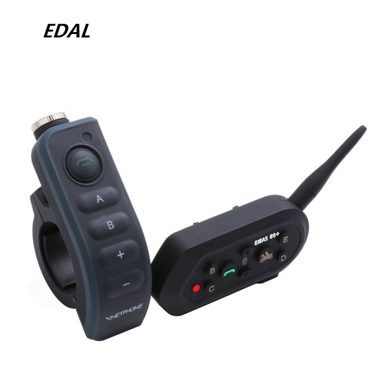 EDAL E6 PLUS Riding Motorcycle Helmet Security Bluetooth Walkie-talkie With Remote Control Multi-Person Switch Intercom Headset