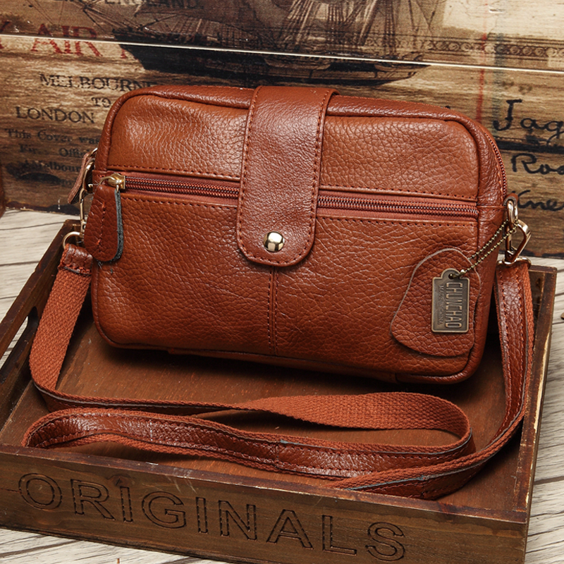 Hot Sale Women Messenger Bag Guaranteed 100% Genuine Leather Famous Brand Small Bags for Girls Casual Crossbody Bags Brown Blue