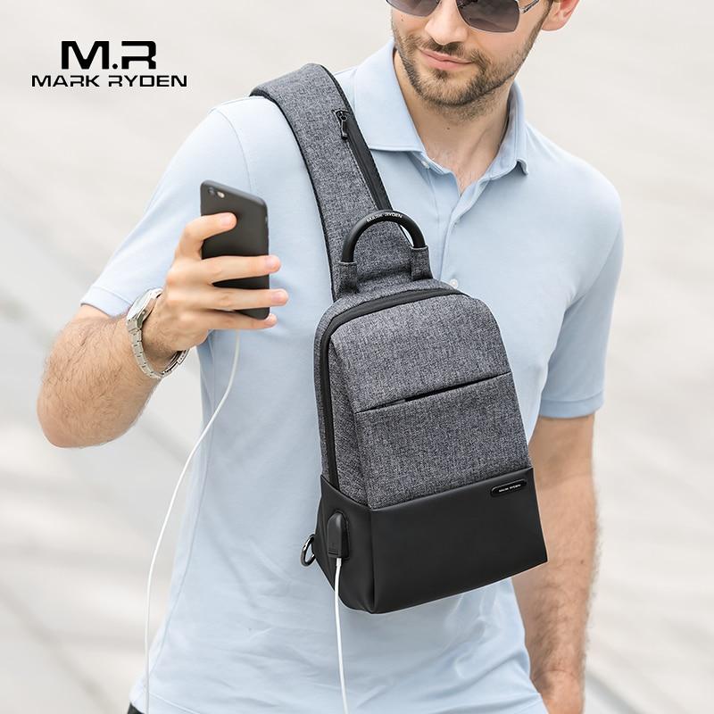 Sling-Bag Men Crossbody-Bag Mark-Ryden Waterproof Bags Usb-Charging-Messengers Multifunction