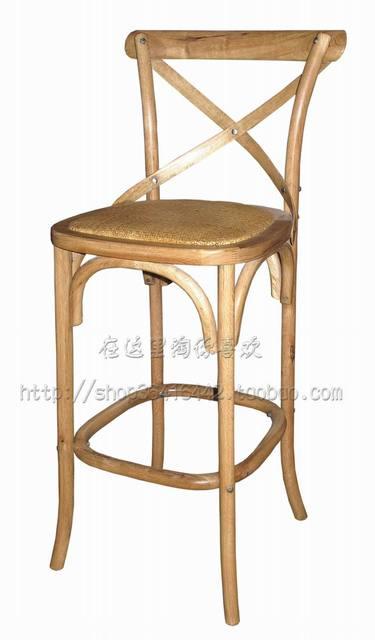 double oak bar chair rattan chair luxury home accessories crafts wood bar stool bar supplies