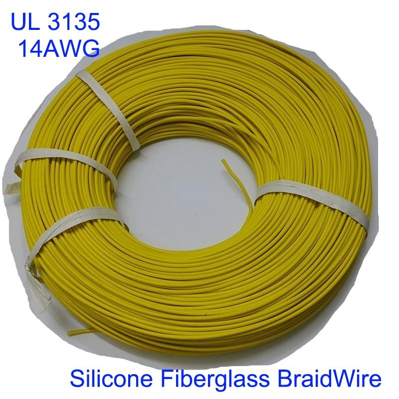 305m UL3135 14AWG Silicone Fiberglass Glass Fiber Wire,Heatproof ...