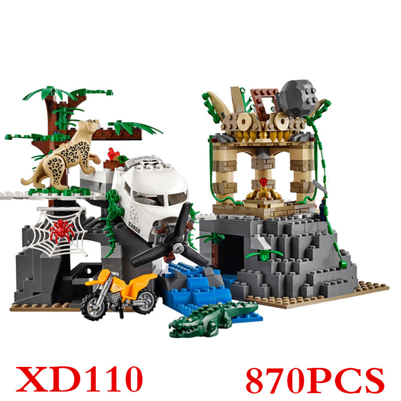 City police series 02061 Jungle Exploration Raiders of the Lost Ark Building Bricks Blocks Compatible with 60161 XD110 walking through the jungle