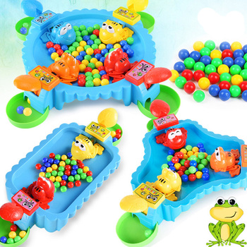 Funny Hungry Frog Eating Beans Games Toys Family Party Parent-child Interactive Game Toy For Children Adult Stress Relief Toy frog eating beans 2018 funny board games toys for children interactive desk table game family game educational toys kid gifts