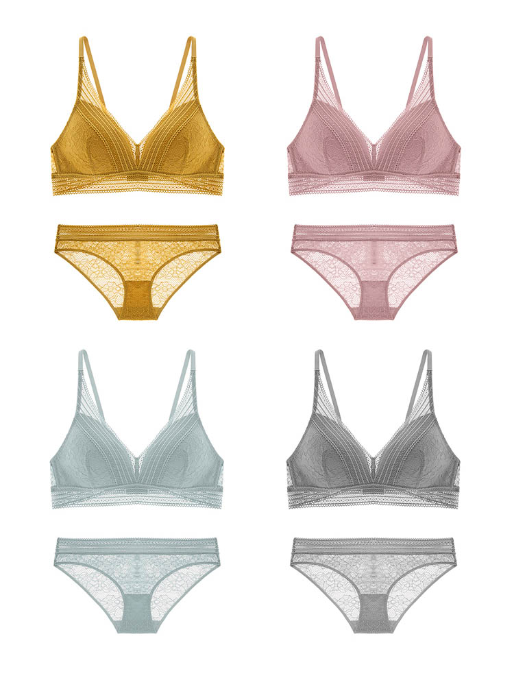 CINOON New Women Lingerie Sexy Embroidery Lace Underwear Sets High Quality Bra Set 34 Cup Brand Sexy Intimates Bra & Brief Set (15)