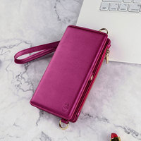 CHEZVOUS Phone Cases Wallet For iPhone X 6 7 8 plus with 12 Card Slot Stand Case for Samsung Galaxy S8 S9 Plus note 8 Back Cover