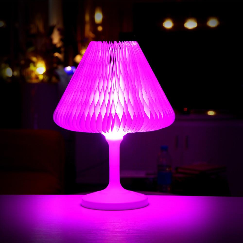 Сенсорный выключатель настольной лампы USB Перезаряжаемые LED Цвет ful ночник творческий ночники Цвет Изменение Настольная лампа фестиваль по...