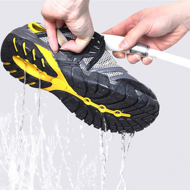 Mens womens Aqua Shoes PU Mesh Breathable short shoes Summer Wading Fishing Quick-drying Male Outdoor Waterproof low sneakers