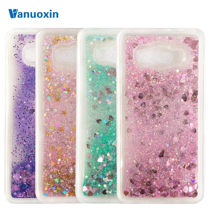 Galleria fotografica Glitter Liquid case sFor Samsung J5 2016 case For Samsung Galaxy J5 2016 J510 J510F Dynamic Sand Quicksand Soft TPU Back cover