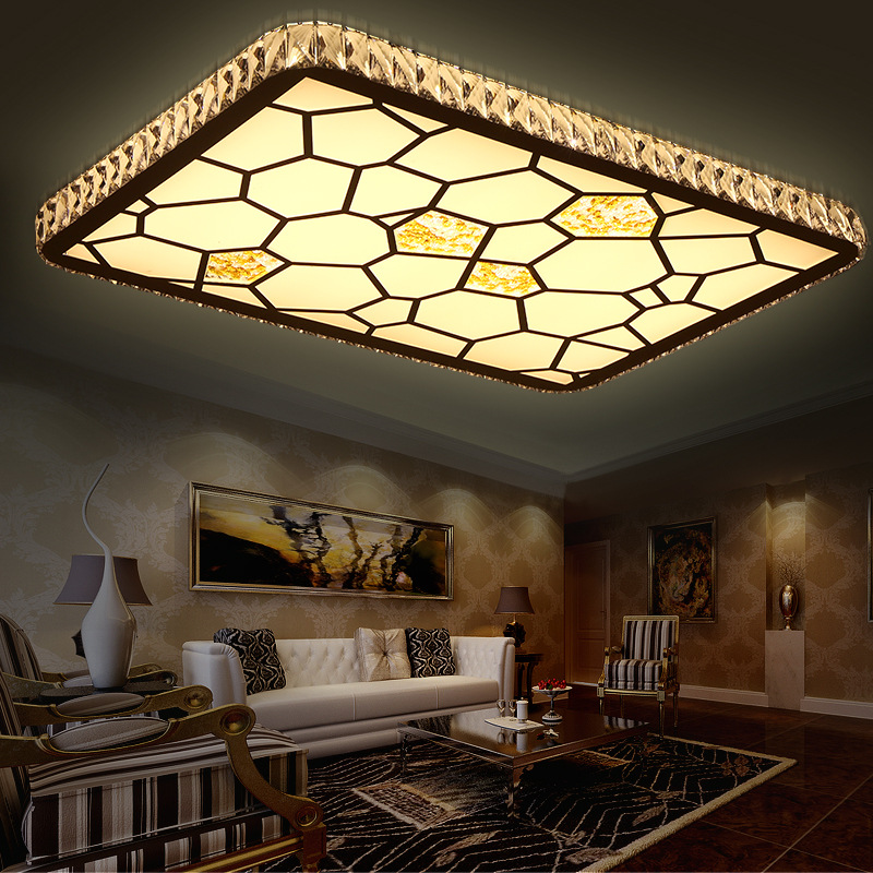 Modern Minimalist Led Ceiling Lamp Crystal Round Water Cube Creative Living Room Lights Bedroom Dimming Fashion Ceiling Light ceiling lights modern minimalist style iron round led living room ceiling lamp bedroom entrance hall balcony corridor lighting