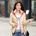Snow wear wadded jacket female 2017 autumn and winter jacket women slim short cotton-padded jacket outerwear winter coat women