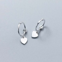 Fashion Heart 925 Sterling Silver Stud Earrings for Women Charm Small Studs Earring Girl Sterling-silver-jewelry Gift Wholesale